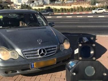 القدس: ضبط سائق يقود بسرعة فائقة