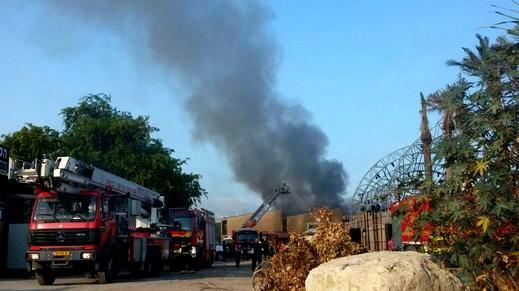 اندلاع حريق في منزل في الجش