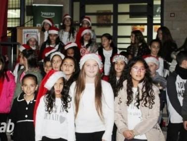 شجرة ومغارة الميلاد في المدرسة البطريركية اللاتينية