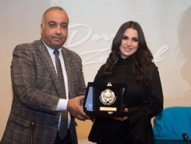 تكريم درة عن مجمل أعمالها في الاسكندرية