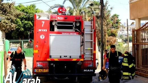 اندلاع حريق في تراكتور قرب وادي سلامة