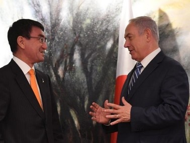 رئيس الوزراء نتنياهو يستقبل وزير الخارجية الياباني