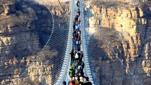 الصين: تدشين أطول جسر زجاجي بالعالم