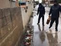 شباب بصمات الخير في باقة يتطوعون لحماية السكان من الفيضانات