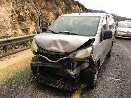 اصابة 5 اشخاص في حادث قرب مفرق كرمئيل