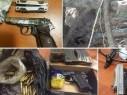 ضبط أسلحة وذخيرة وقنابل وتوقيف مشتبهين في منطقتي شفاعمرو والناصرة