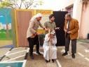 عرض مسرحية الماء والخضراء في مدرسة كابول