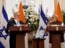 مؤتمر صحفي مشترك بين نتنياهو ورئيس الوزراء الهندي وتوقيع اتفاقيات