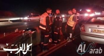 إصابتان بحادث طرق على شارع وادي عارة رقم 65 بالقرب من ميعامي