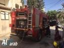 اندلاع حريق بإحدى غرف المركز الجماهيري في طوبا الزنغرية