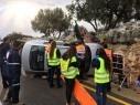 اصابة شابة 24 عاما بجروح خطيرة جراء حادث طرق بالقرب من بلدة العرامشة