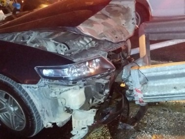 اصابة شاب بجراح متوسطة في حادث طرق بالقرب من بلدة جلجولية