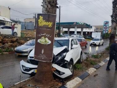 إصابة شخص في حادث ذاتي في يركا
