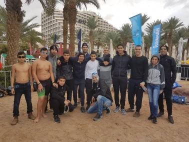 تمثيل مشرف لفريق فن السباحة كفرقرع