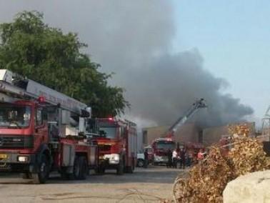 حريق في منزل في اللد