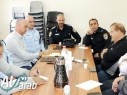 قيادة شرطة مجد الكروم تلتقي عددا من الشخصيات الاجتماعية في البلدة