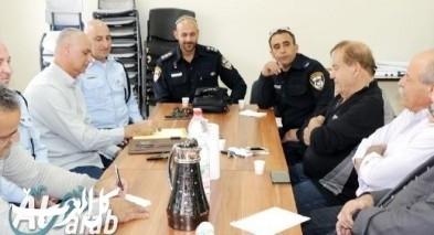 قيادة شرطة مجد الكروم تلتقي عددا من الشخصيات