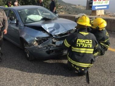 إصابة 4 أشخاص بجراح متفاوتة بحادث قرب الرامة
