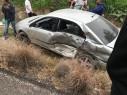 اصابات بحادث طرق بين سيارة اسعاف وسيارة خصوصية على مدخل عبلين