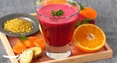 عصير الشمندر والبرتقال الشهيّ والغنيّ بالفوائد