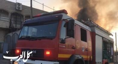 اشتعال النيران في شاحنة في دبورية دون اصابات