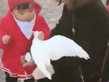 بالفيديو- طفلة: هذا طعامي أنا