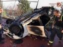 حيفا: سقوط سيارة عن ارتفاع واندلاع النيران داخلها والتحقيق جارٍ