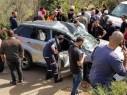 إصابات بينها خطيرة إثر إنحراف سيارة وسقوطها في وادٍ على طريق يركا - جث