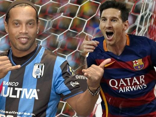 رونالدينيو: ميسي لاعب عظيم منذ صغره