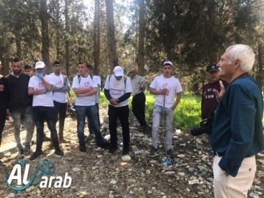 شرطة وادي عارة والطلاب في يوم الاعمال الخيرية