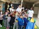طلاب مدرسة أفاق الابتدائية دير الاسد يشاركون بيوم الاعمال الخيرية