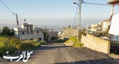 بلدية ام الفحم تنهي تعبيد شارع اسكندر والخلايل