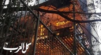 إندلاع النيران داخل منزل في قرية كفرمصر والأهالي يساعدون على اخمادها