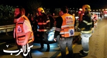 اصابة 9 اشخاص بحادث طرق في منطقة طبريا
