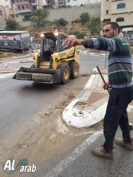 اعمال تطوعية في حي الشاغور بمدينة أم الفحم