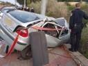 حادث طرق ذاتي بين كسرى وكفرسميع يسفر عن اصابة شخص بجراح خطيرة
