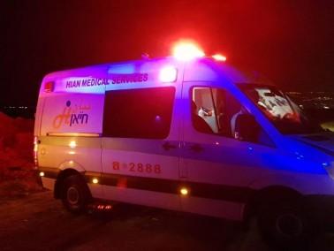 اصابة شاب بجراح متوسطة في حادث طرق قرب مفرق ابو سنان