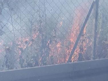 اندلاع حريق في الاحراش بين طمرة وكابول