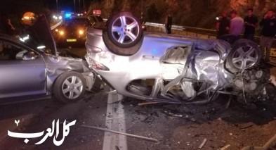 اصابة 6 اشخاص في حادث طرق مروع قرب بلدة حرفيش
