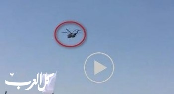 بالفيديو: مروحيات عسكرية فوق مسجد الفاروق في رهط اثناء رفع المئذنتين