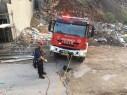 اندلاع حريق في شاحنة لجمع النفايات في نحف