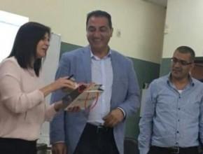 الناصرة: العالم الفلسطيني د.عدنان مجلي يزور مدرسة مار يوسف