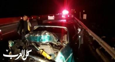 اصابة شخصين بجراح متفاوتة في حادث طرق قرب مفرق كابول