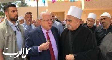 رئيس الدولة رؤوبين روبي ريفلين يهنئ الشيخ طريف