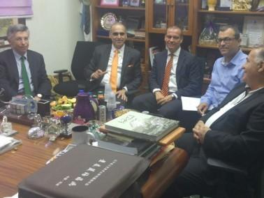 سفير اسبانيا الجديد يقوم بزيارته الرسمية الاولى للناصرة