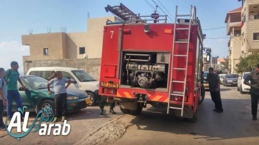 اندلاع حريق في منزل في دير الاسد