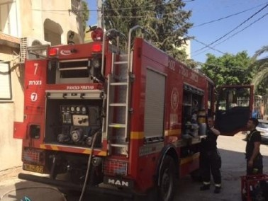 اندلاع حريق داخل حمام سباحة في القدس