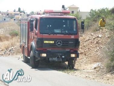 اندلاع حريق في منطقة أشواك وعرية قرب الكعبية