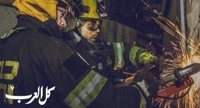 حريق كبير في محل تجاري في بيتح تكفا