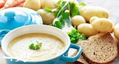 شوربة البطاطا مع جبنة الشيدر..صحتين